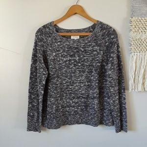 Lou & Grey | Stitchy Marbled Knit Crew Sweater